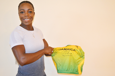 CAMPBELL-BROWN DONATES 2004 OLYMPIC GAMES WINNING VEST TO IAAF HERITAGE COLLECTION