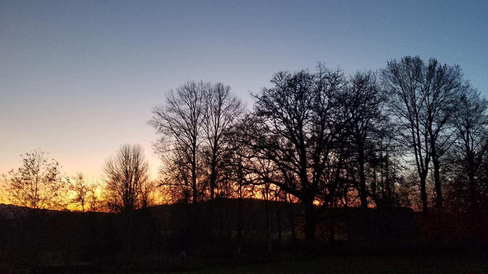 October dusk