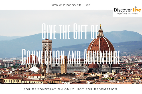 Discover Live Gift Certificate