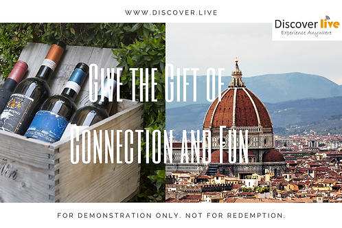 Discover Live Gift Certificate (Tuscan Wine Class + Florence Tour)