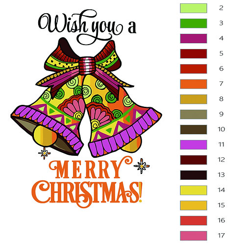 Paint by Numbers Christmas Bell