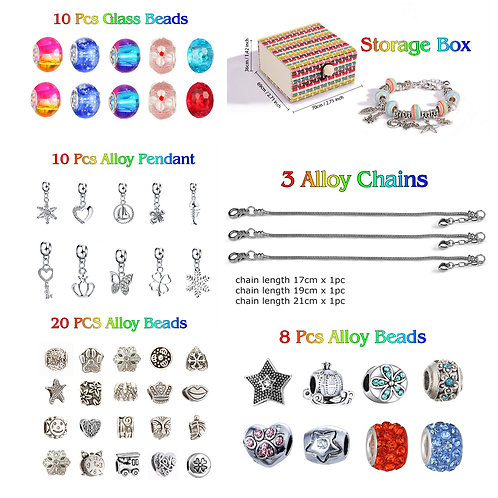 Charm Bracelet Making Kit, Jewelry