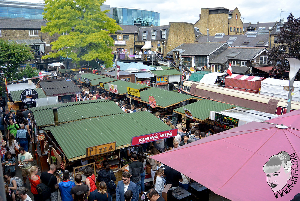 Food stands at Camden Lock