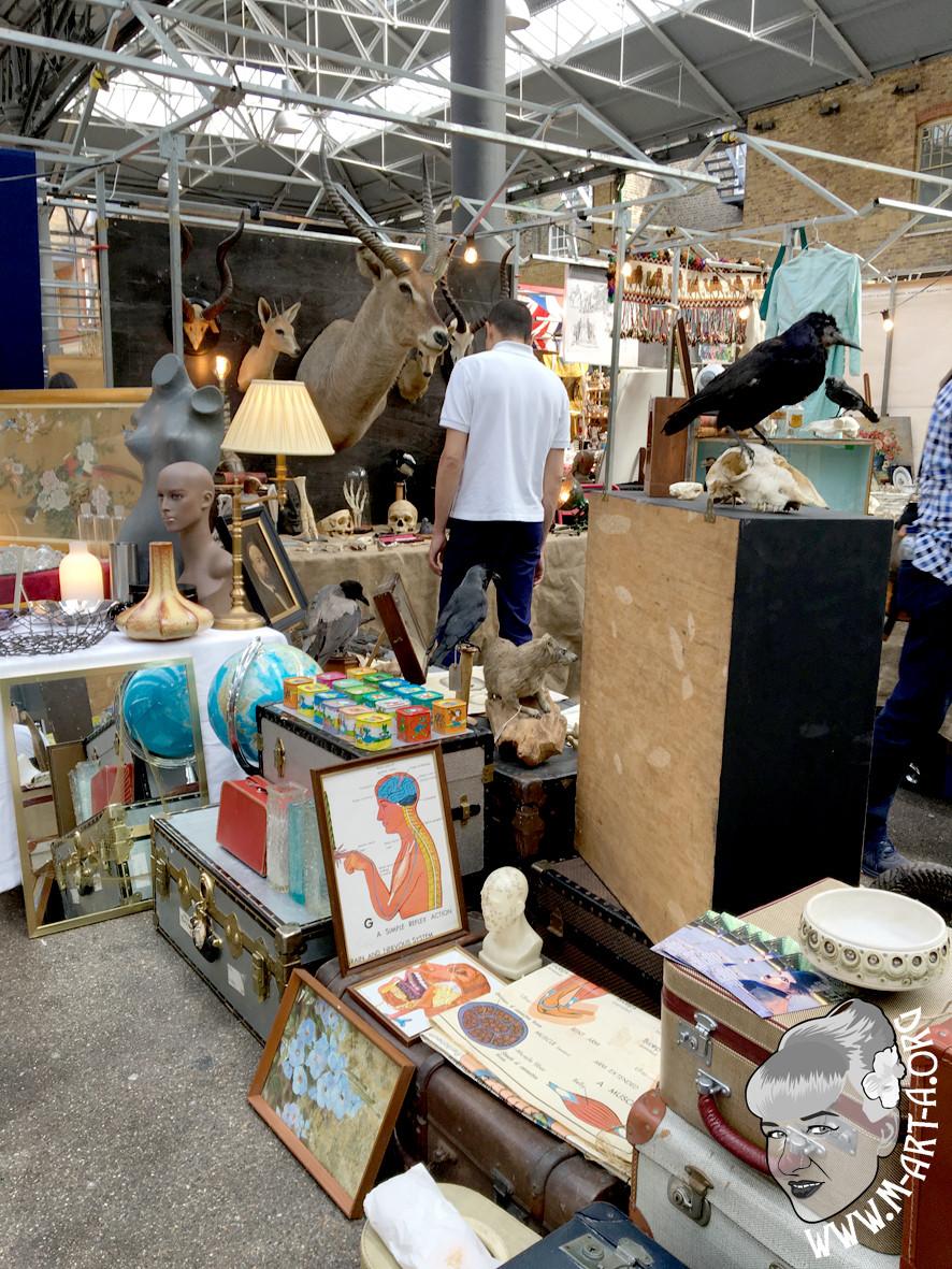 flea market at Spitalfields Market