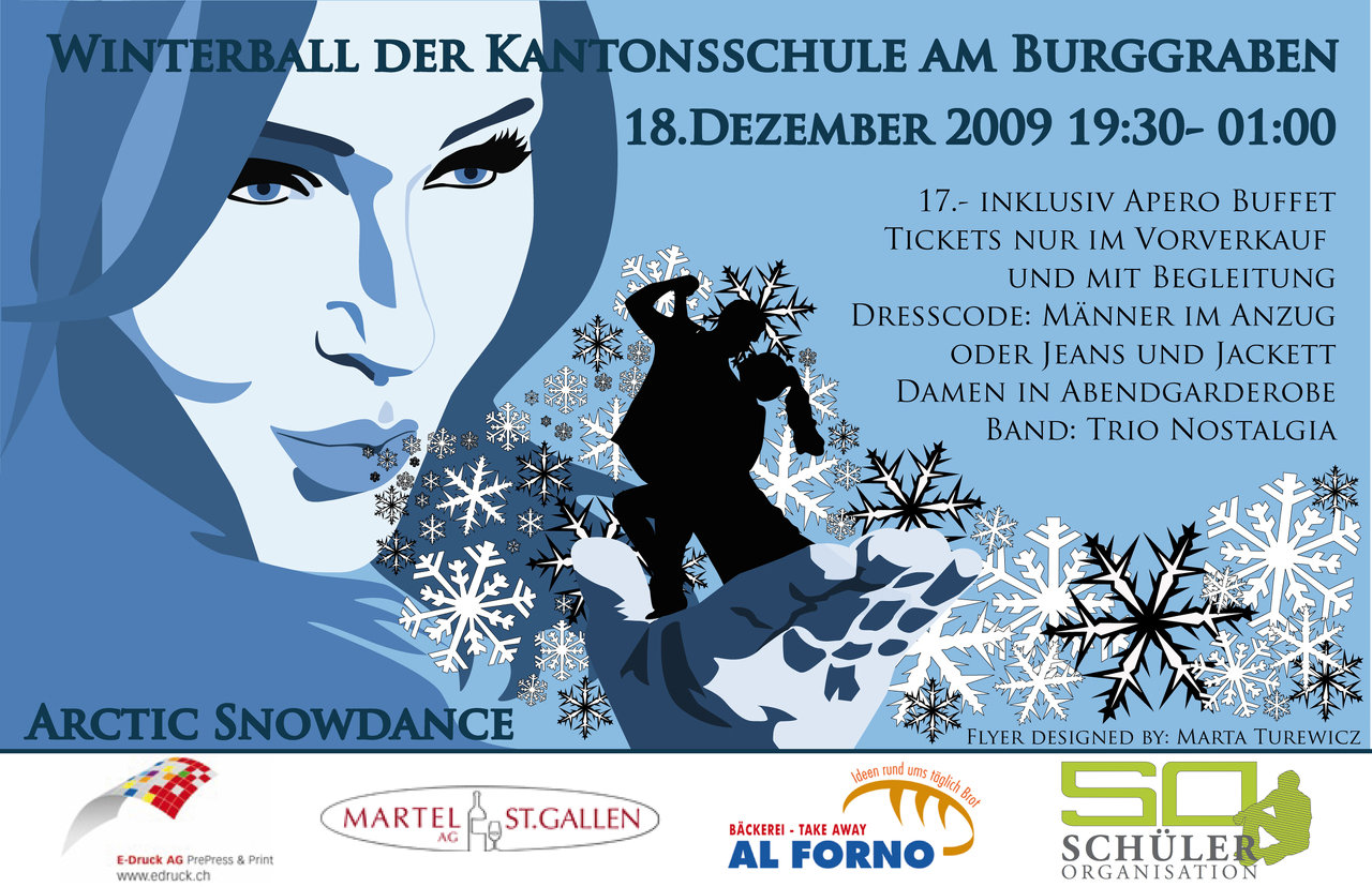 FLYER WINTERBALL (ILLUSTRATOR)