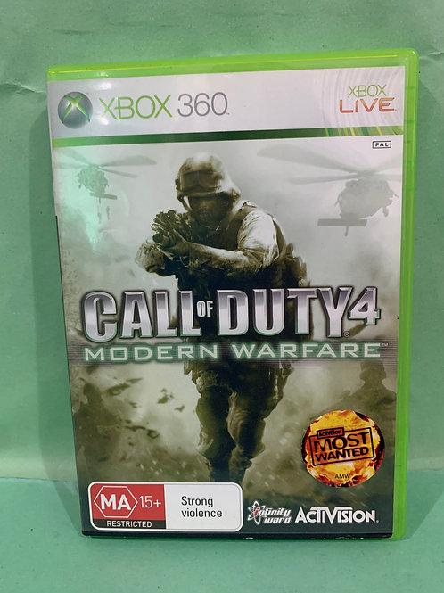 Xbox360 Call of Duty Modern Warfare 4