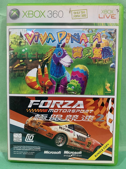 Xbox360 2 in 1 Games - Viva Pinata / Forza 2 Motorsport