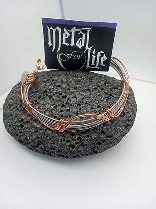 22cm - Medium Bracelet with copper detail (opening)