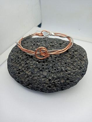 22cm - Medium twisted copper bracelet (opening)