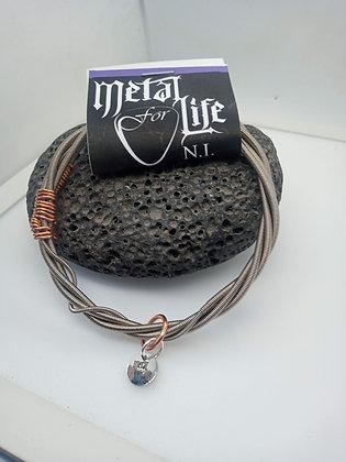27cm - Large Bracelet twisted bass  (slide on)