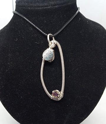 Necklace - Bass, Lilac Swarovski & Charm