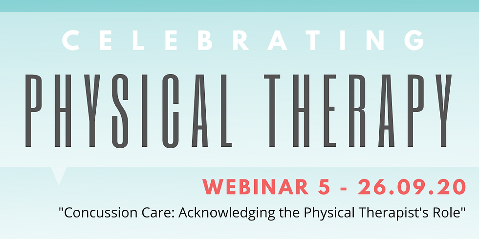 """Enhance Education™ Webinar 5 - """"Concussion Care: Acknowledging the Physical Therapist's Role"""""""