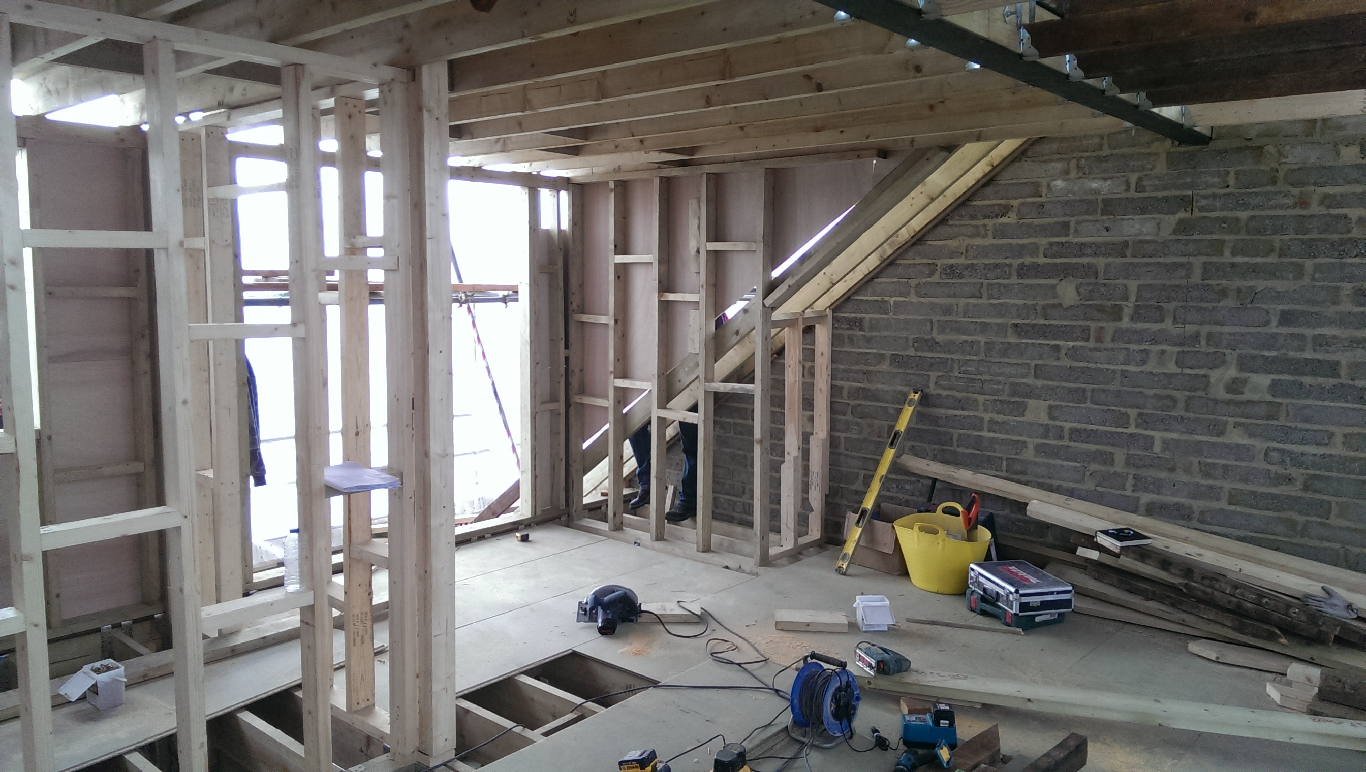 Loft conversion in Raynes Park.