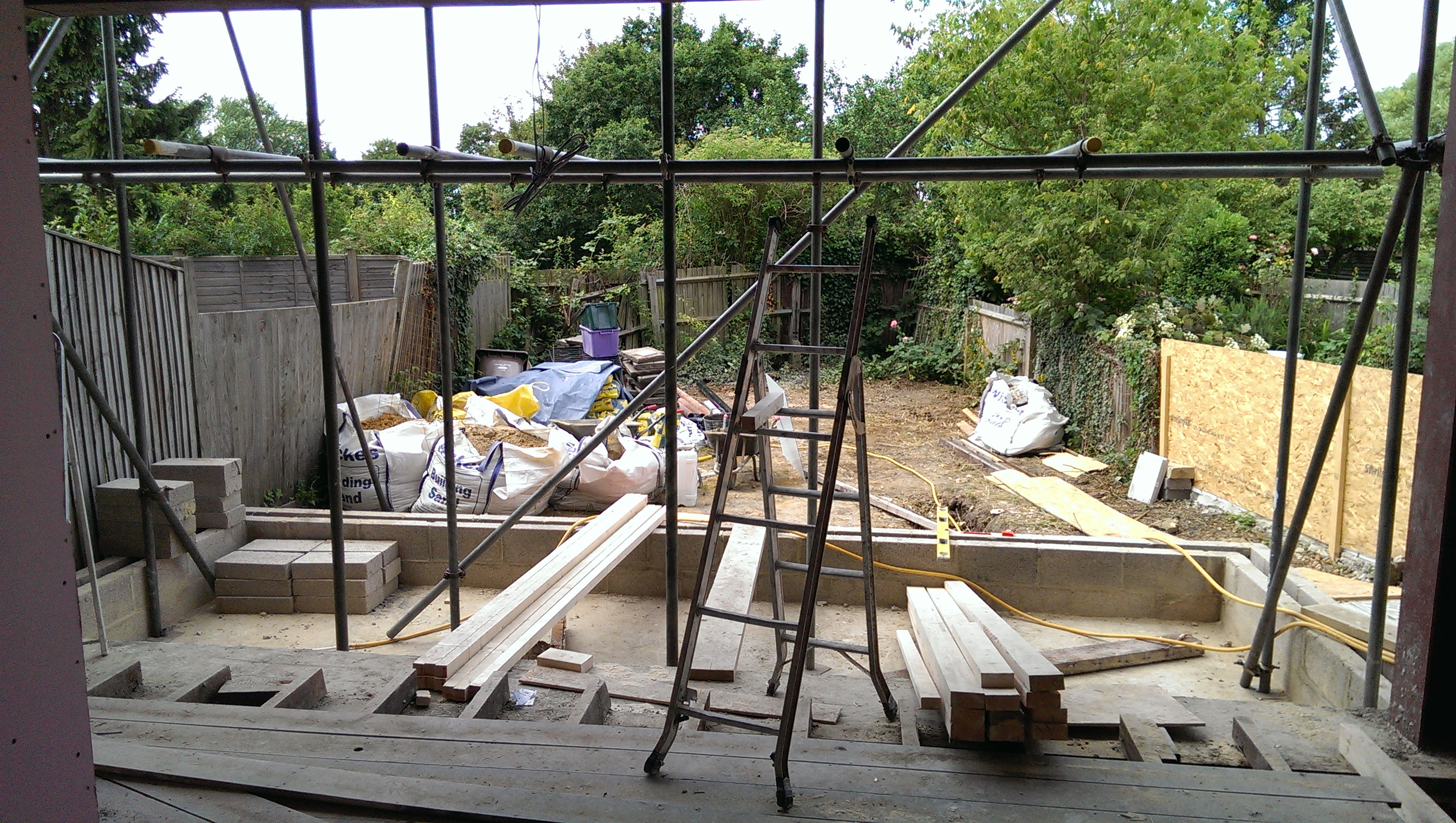 Rear extension and old garden.