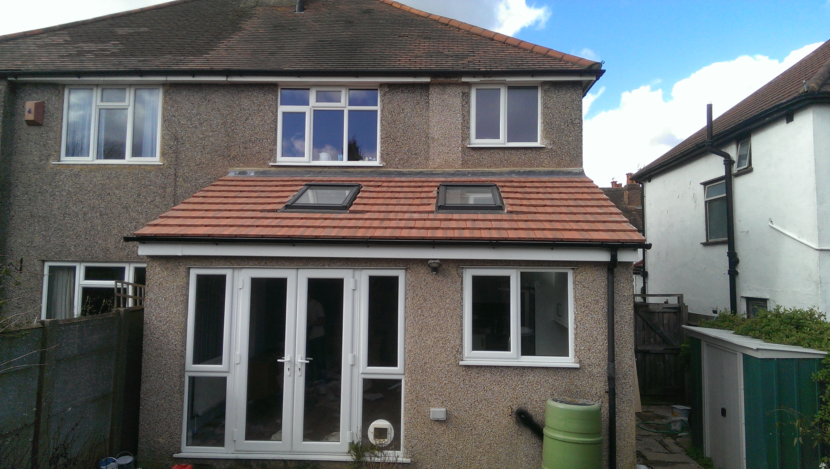 New rear extension in Cheam.