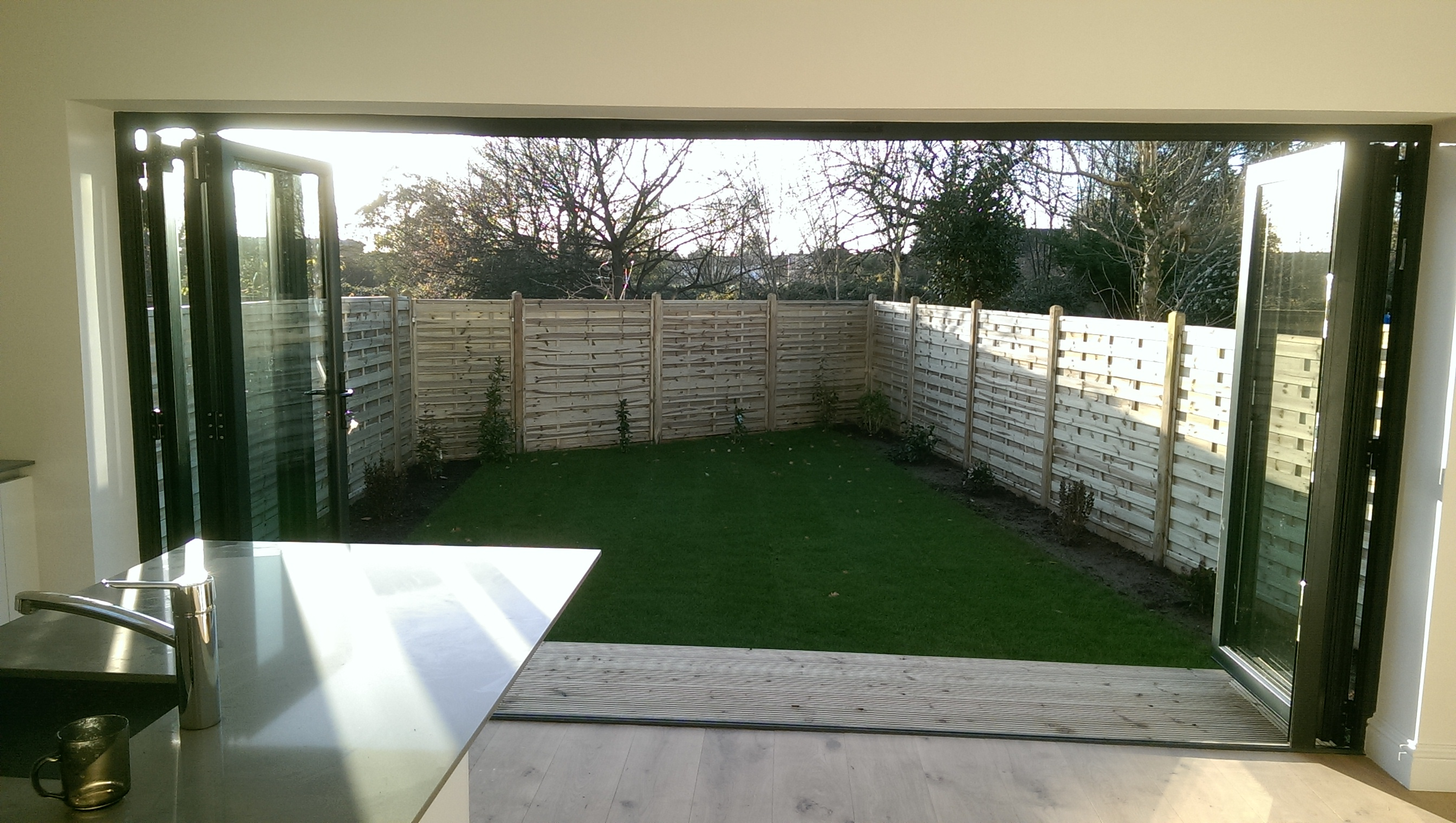 New extension & garden, Raynes Pk.