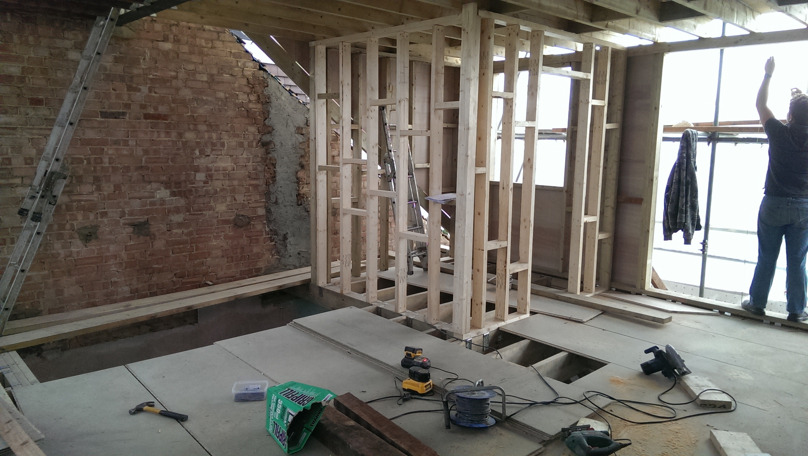 Loft conversion in Raynes Park.