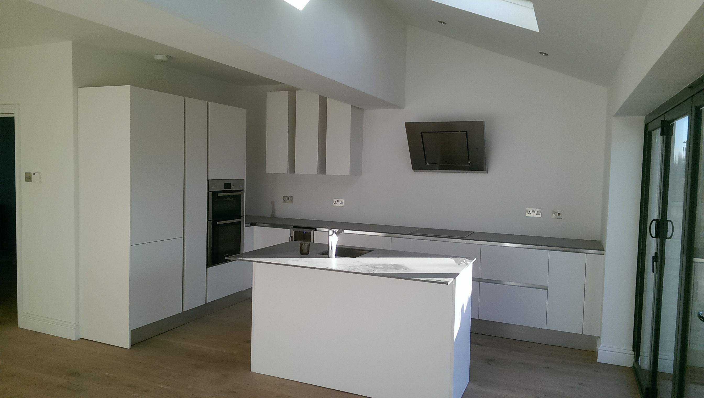 New extension with a new kitchen.