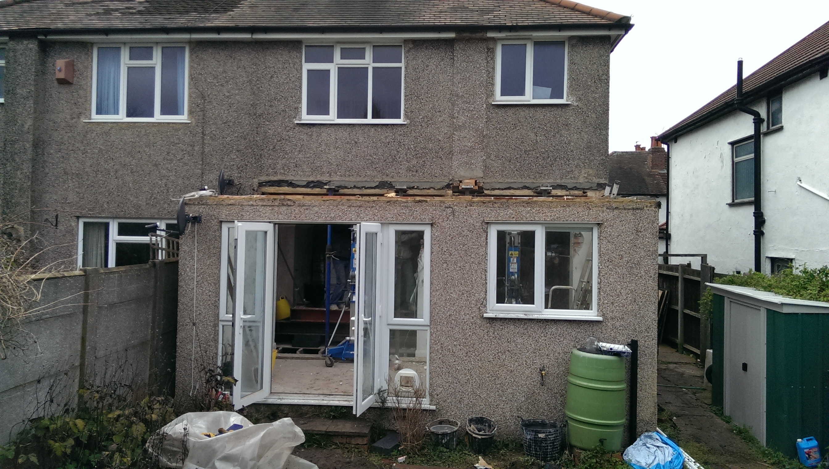 Existing rear extension in Cheam.