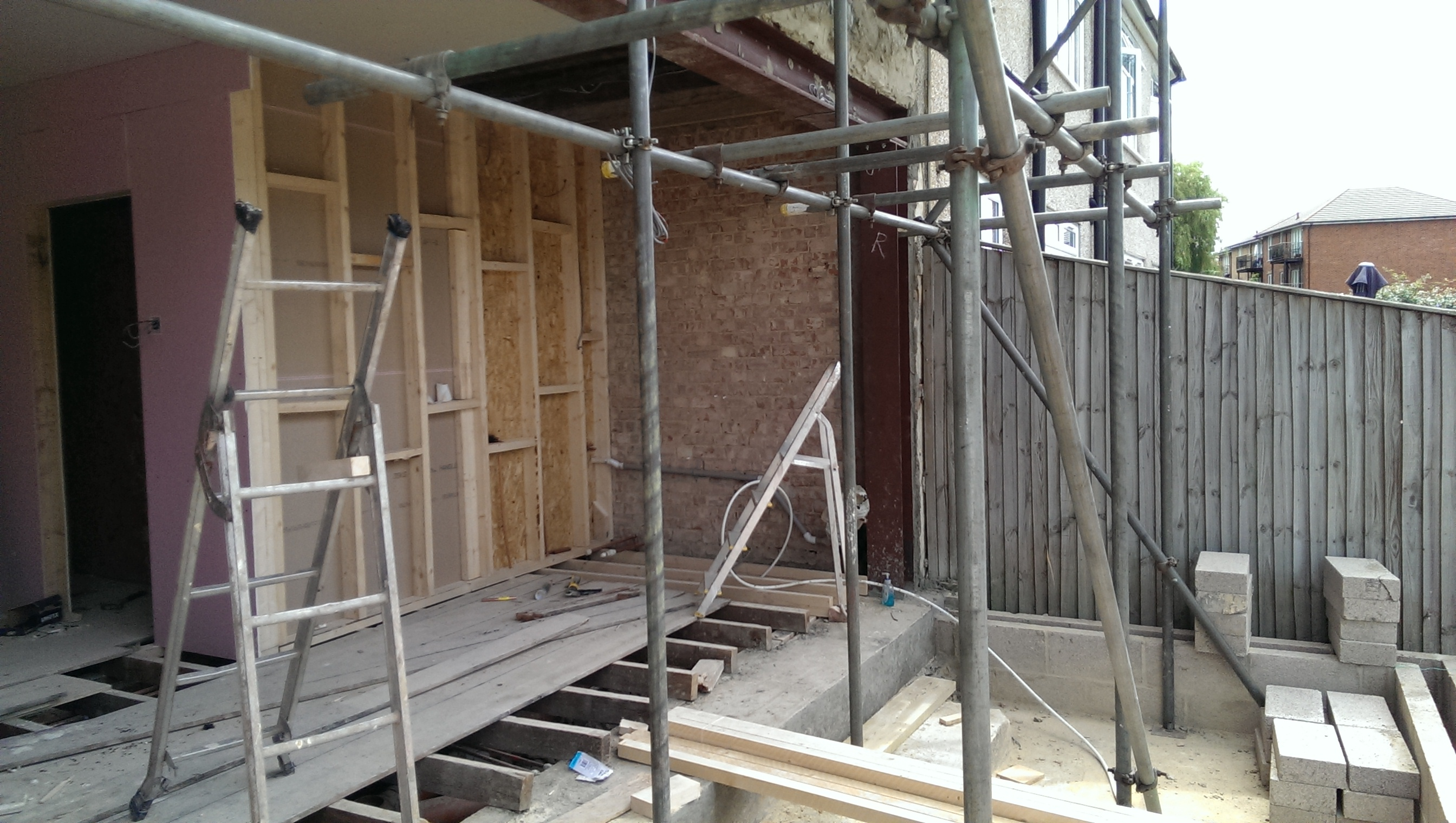 Rear extension in Raynes Park.