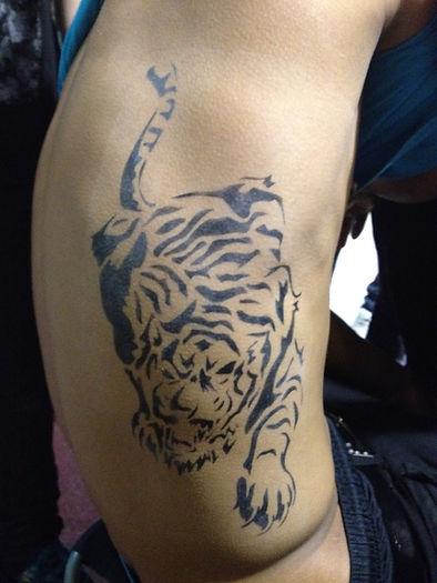 Tiger Arbrush Tattoo