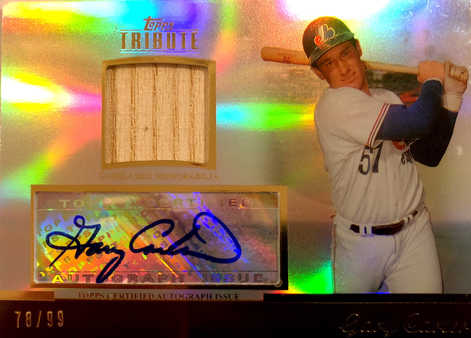 2011 Topps Tribute Autograph Relics #GC1 Gary Carter/99