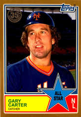 2018 Topps S2 1983 Topps Baseball All Stars Gold #83AS73 Gary Carter #/50