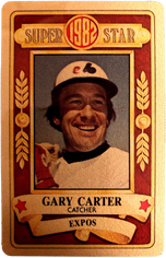 1982 Perma-Graphic All-Stars Gold #10 Gary Carter