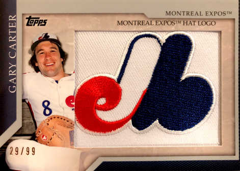 2010 Topps Manufactured Hat Logo Patch #MHR64 Gary Carter/99