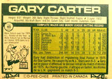 1977 O-Pee-Chee #45 Gary Carter