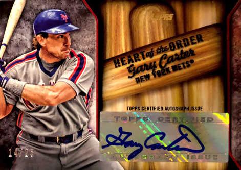 2015 Topps Heart of the Order Autographs #HOAGC Gary Carter/25