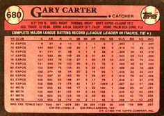 1989 Topps #680 Gary Carter