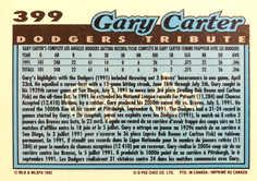 1992 O-Pee-Chee #399 Gary Carter TRIBUTE