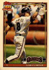 1991 Topps Desert Shield #310 Gary Carter