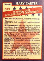1984 O-Pee-Chee #393 Gary Carter AS