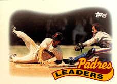 1989 Topps #231 Roberto Alomar Team Leaders/Gary Carter At Plate