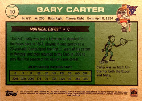 2020 Topps x Super 70s Sports #10 Gary Carter