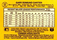1987 Donruss #69 Gary Carter