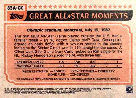 2013 Topps Archives All-Stars Autographs #GC Gary Carter/5