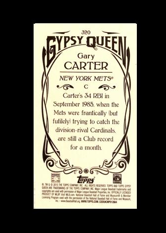 2015 Topps Gypsy Queen Mini #320 Gary Carter SP