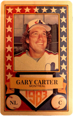 1983 Perma-Graphic All-Stars Gold #10 Gary Carter