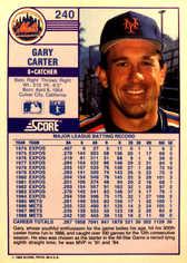 1989 Score #240 Gary Carter