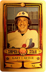 1983 Perma-Graphic Credit Cards Gold #3 Gary Carter