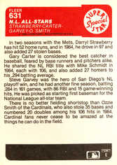 1985 Fleer #631 Strawberry/Carter/Garvey/O.Smith