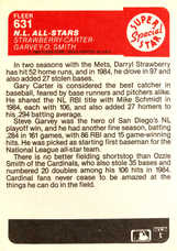 1985 Fleer #631 Strawberry/Carter/Garvey/O.Smith