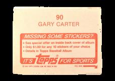 1984 Topps Stickers #90 Gary Carter