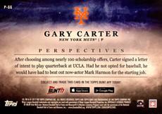 2017 Topps Bunt Perspectives 5X7 Gold #PGG Gary Carter/10