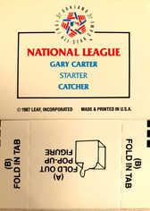1988 Donruss Pop-Ups #19 Gary Carter