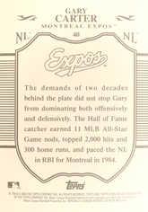2009 Topps Sterling Framed Cherry Wood #40 Gary Carter 1/1