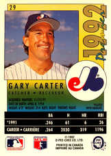 1992 O-Pee-Chee Premier #29 Gary Carter